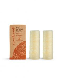Hilo Dental Vegano Biodegradable - Naranja, 2 recambios de 50m
