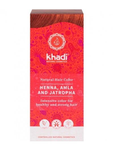 Henna Natural Con Amla Y Jatropha Khadi. 100 Gr