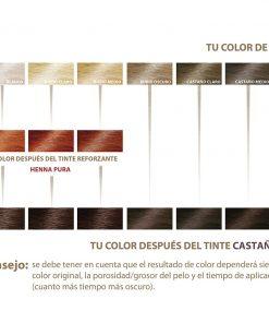 Herbal Color Khadi Castaño Oscuro. 100 Gr